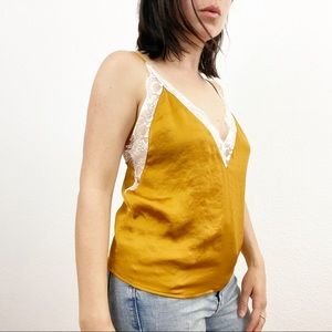 Urban Outfitters Terra Cotta Gold Rust Lace Cami